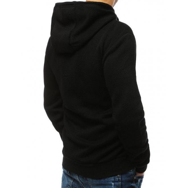 Pánska športová mikina s potlačou v čiernej farbe