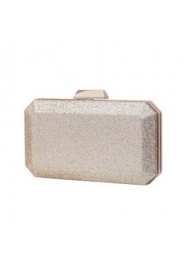 Zlatá brokátová kabelka pre dámy