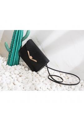 Dámska elegantná mini kabelka v čiernej farbe