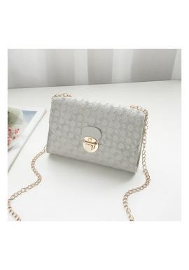 Dámska elegantná mini kabelka so vzorom v sivej farbe