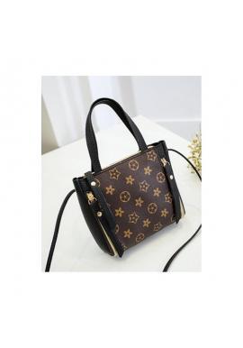 Čierna módna kabelka so vzorom pre dámy