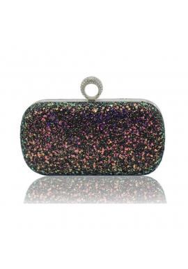 Farebná spoločenská kabelka s brokátom pre dámy