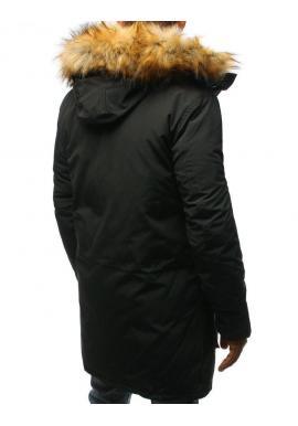 Tmavosivá zimná Parka s kapucňou pre pánov