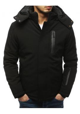 Pánska softshell bunda na zimu v čiernej farbe