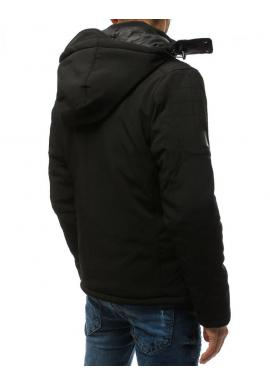 Čierna softshell bunda na zimu pre pánov
