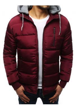 Bordová zimná bunda s kapucňou pre pánov