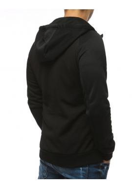 Pánska športová mikina s ozdobným zipsom v čierno-sivej farbe