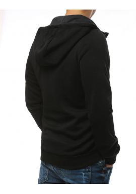 Čierna športová mikina s ozdobným zipsom pre dámy