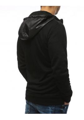 Pánska štýlová mikina s kapucňou v čiernej farbe
