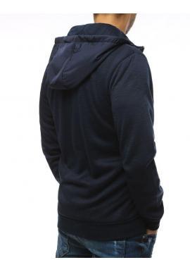 Tmavomodrá štýlová mikina s kapucňou pre pánov