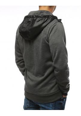 Štýlová pánska mikina tmavosivej farby s kapucňou