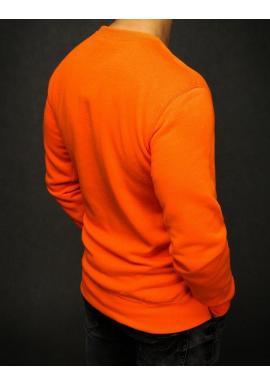Pánska klasická mikina bez kapucne v oranžovej farbe