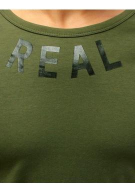 Zelené športové tričko s potlačou pre pánov