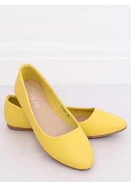 Klasické dámske balerínky žltej farby