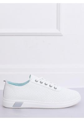 Dierkované dámske tenisky bielo-sivej farby