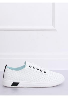 Dámske dierkované tenisky v bielo-čiernej farbe