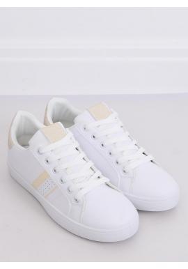 Biele klasické tenisky so zlatými prvkami pre dámy