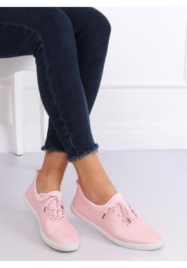 Módne dámske tenisky ružovej farby s neoprénovými vložkami