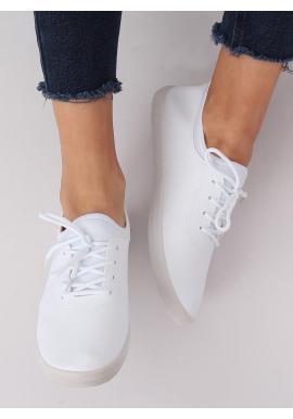 Biele módne tenisky s neoprénovými vložkami pre dámy