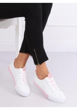 Klasické dámske tenisky bielo-ružovej farby