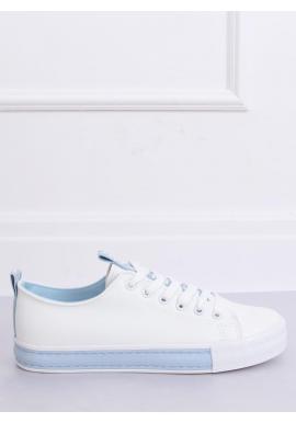 Dámske klasické tenisky v bielo-modrej farbe