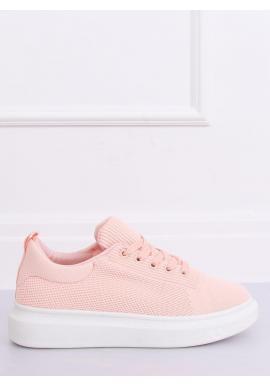 Ružové módne tenisky na vysokej podrážke pre dámy
