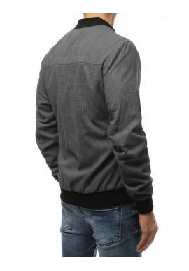 Pánska jarná Bomber bunda v sivej farbe