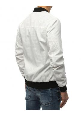 Pánska jarná Bomber bunda v bielej farbe