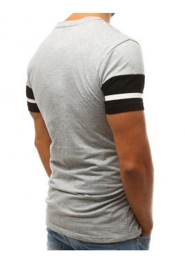 Pánske bavlnené tričko s potlačou v sivej farbe