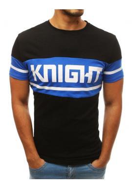 Bavlnené pánske tričko čiernej farby s potlačou