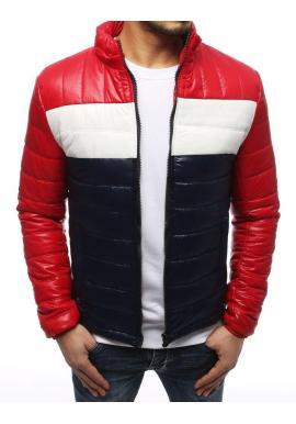 Prešívaná pánska bunda červenej farby na prechodné obdobie