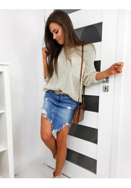 Béžový oversize sveter pre dámy