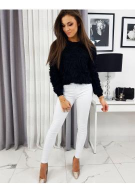 Čierny elegantný sveter pre dámy