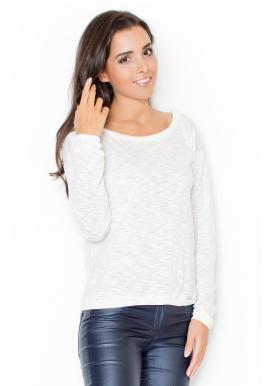 Dámske tričko s ozdobnými mašľami v sivej farbe