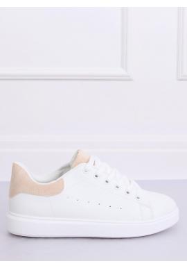 Klasické dámske tenisky bielej farby s béžovými vložkami pre dámy