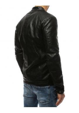 Pánske kožené bundy v čiernej farbe