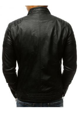 Pánska kožená bunda v čiernej farbe