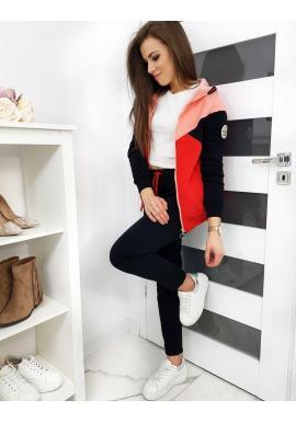 Tepláková dámska súprava ružovo-červenej farby