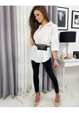 Oversize dámska košeľa bielej farby