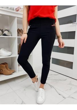 Dámske elastické nohavice v čiernej farbe