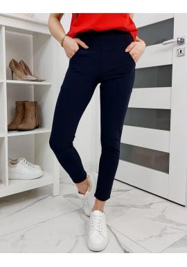 Tmavomodré elastické nohavice pre dámy