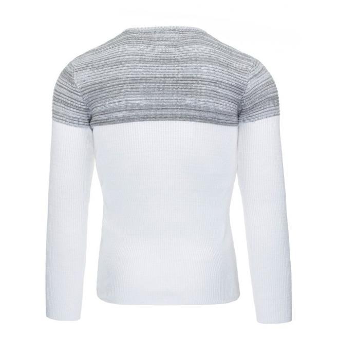 Pánsky modrý sveter s prúžkami