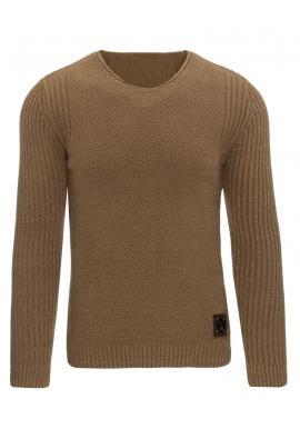 Klasický pánsky sveter v bielej farbe s okrúhlym výstrihom