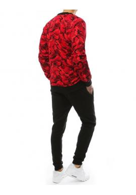 Červeno-čierna tepláková súprava s maskáčovým vzorom pre pánov