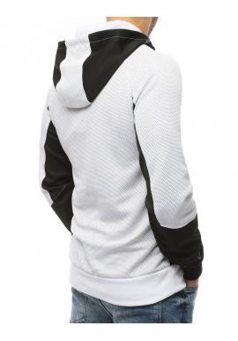 Biela športová mikina s kapucňou pre pánov