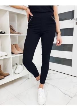 Dámske pohodlné nohavice v čiernej farbe