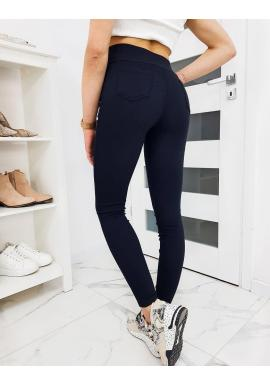 Tmavomodré pohodlné nohavice pre dámy