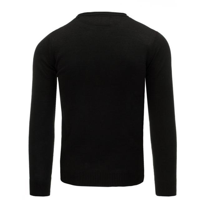 Čierno-sivý pánsky sveter s maskáčovým vzorom