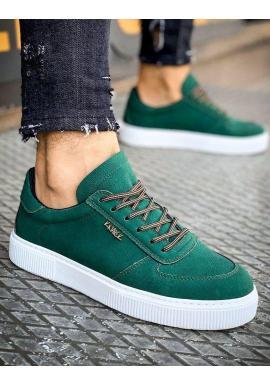 Zelené štýlové tenisky pre pánov