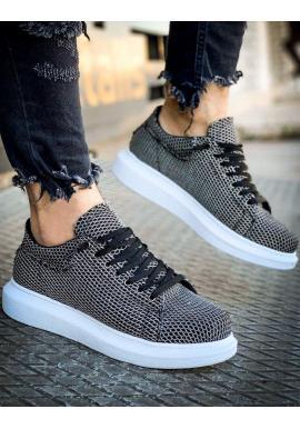 Pánske štýlové Sneakersy v čierno-bielej farbe